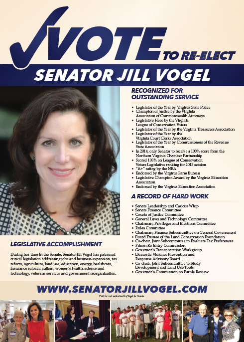 Vote to re-elect senator jill vogel